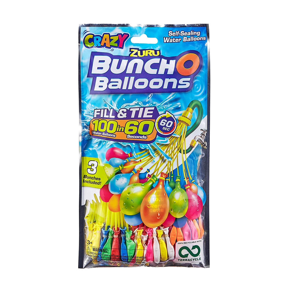 Rapid Fill Multi Colour Water Balloon Bunches (x100)