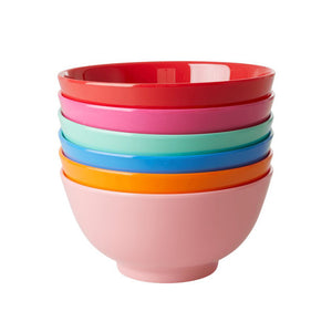Choose Happy Melamine Bowl Blue
