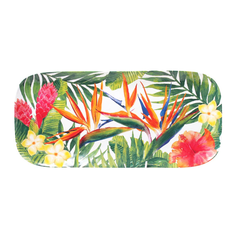 Melamine Rectangular Plate - Tropical Print