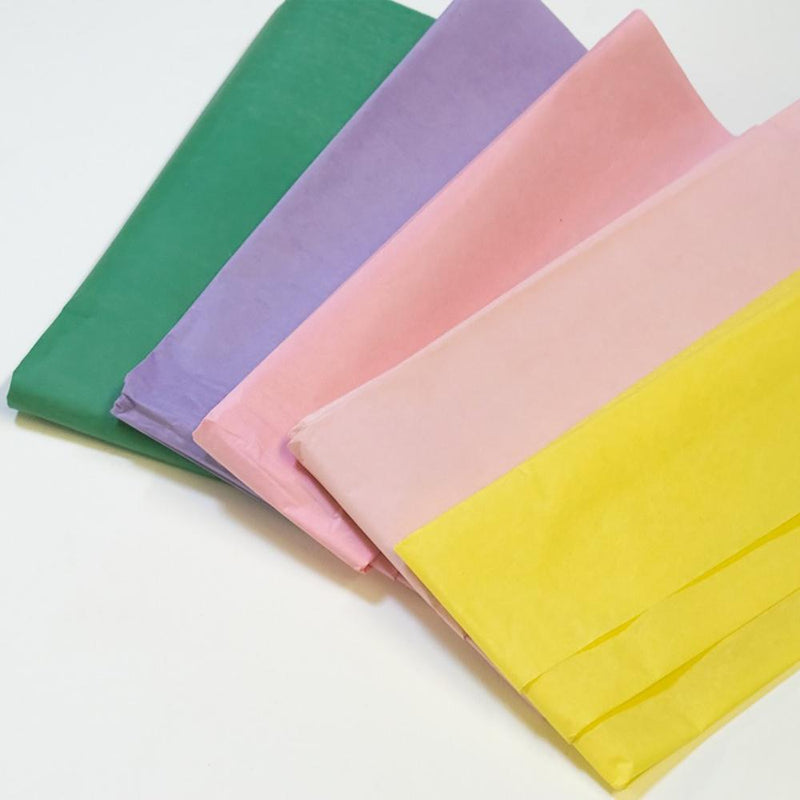 A collection of pastel coloured party tissue paper