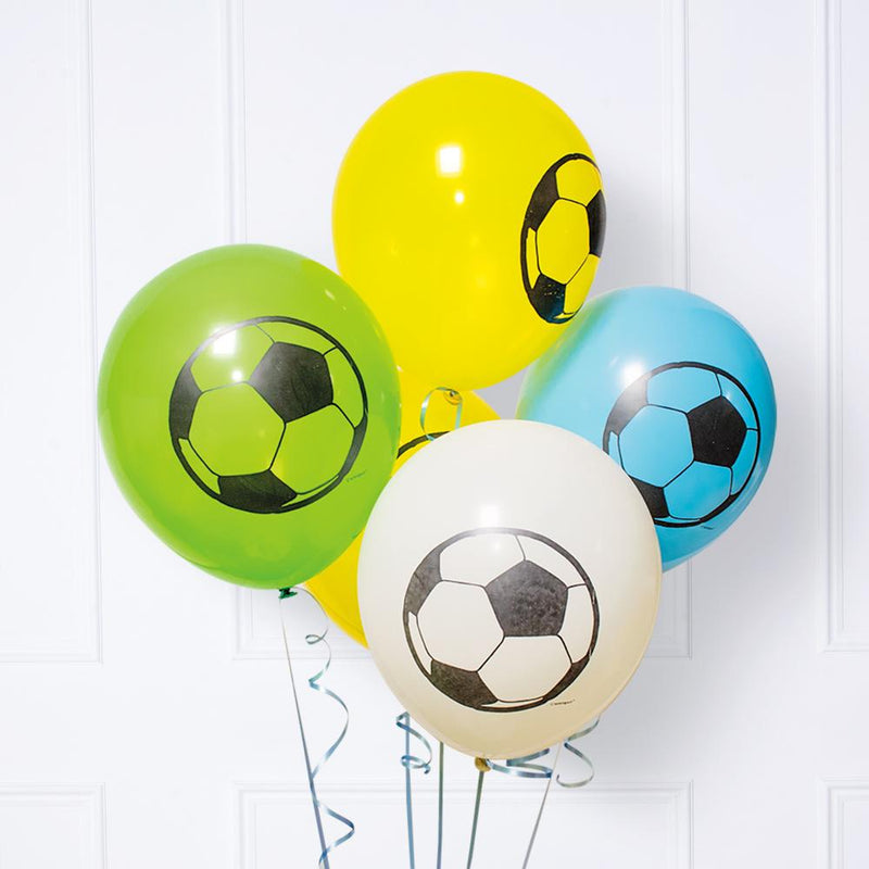 Football Printed Latex Party Balloons (x6)