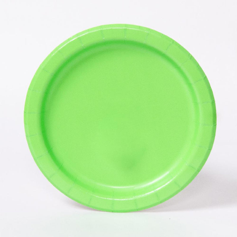 A round green party plate