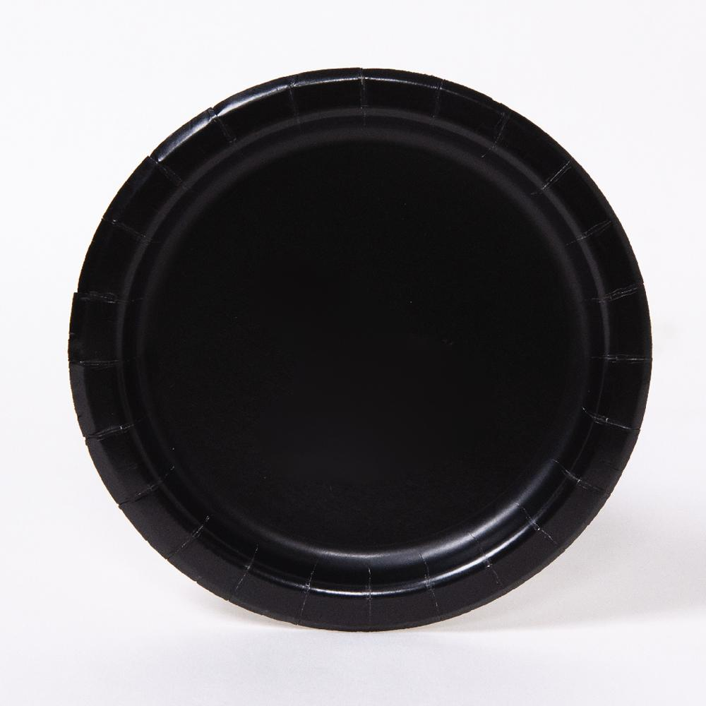 Big Value 7in Paper Party Plates Black (x100)
