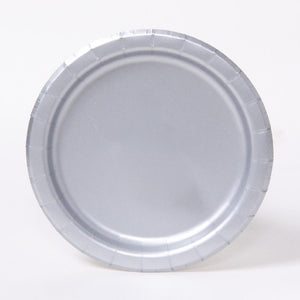 Big Value 7in Paper Party Plates Silver (x100)