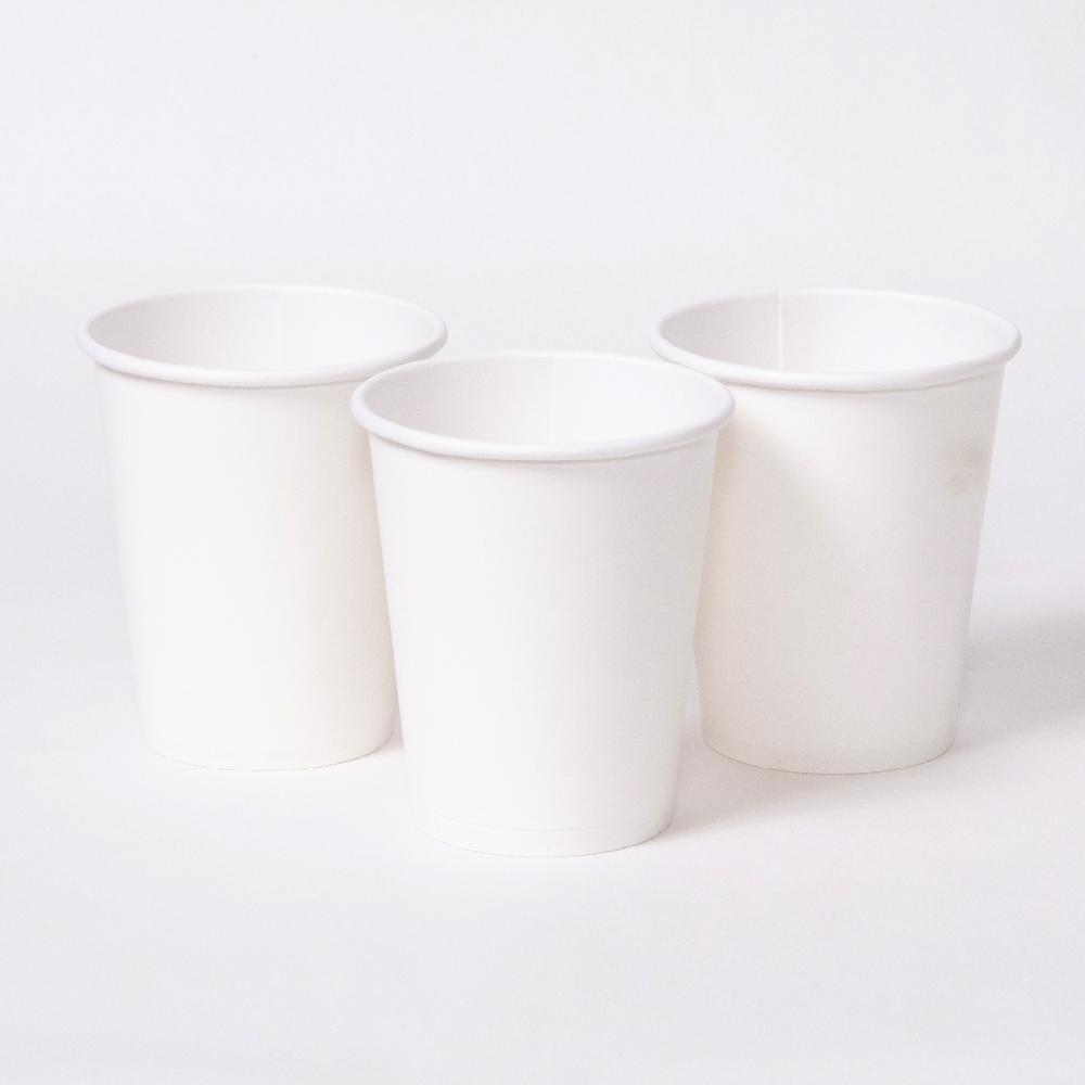 3 white party cups