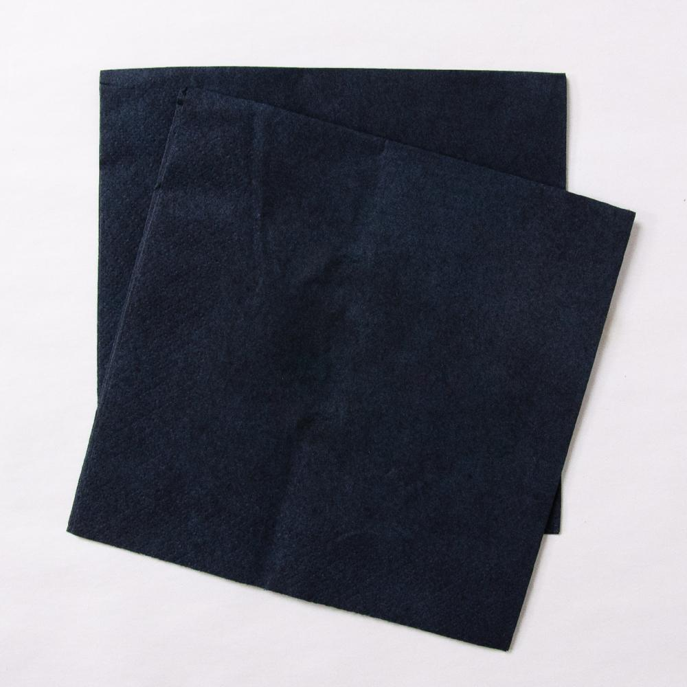 Big Value 2 Ply Paper Napkins Black (x100)