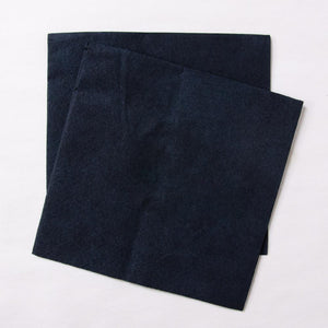 2 black paper party napkins