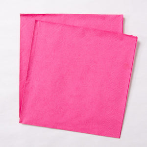 Big Value Paper Napkins Bright Pink (x100)