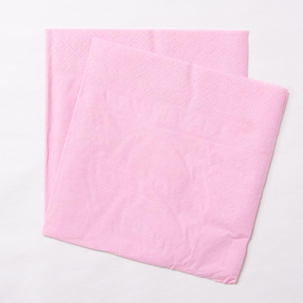 Big Value 2 Ply Paper Napkins Pale Pink (x100)