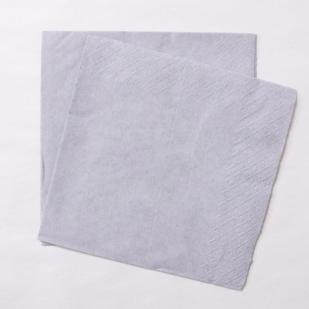 Big Value Paper Napkins Silver (x100)