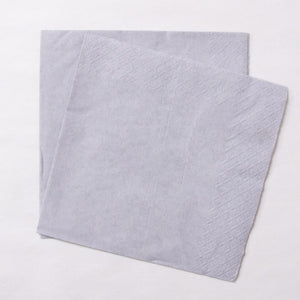 2 silver paper party napkins