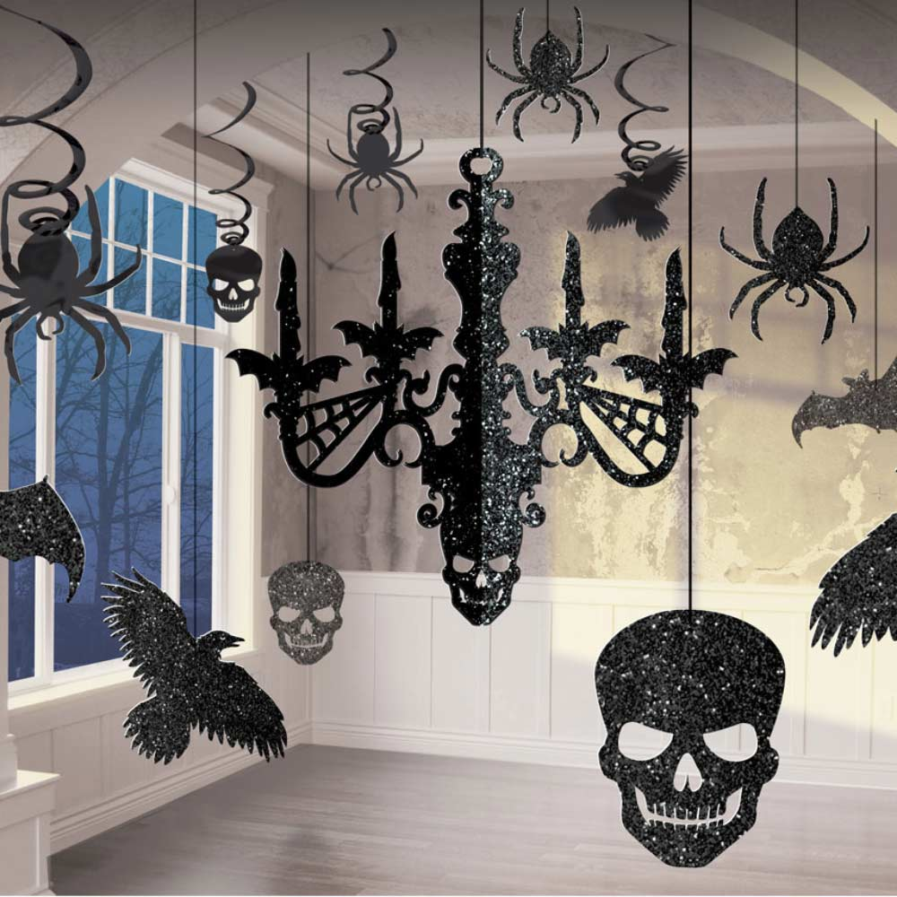 Glitter Chandelier Halloween Decorating Kit