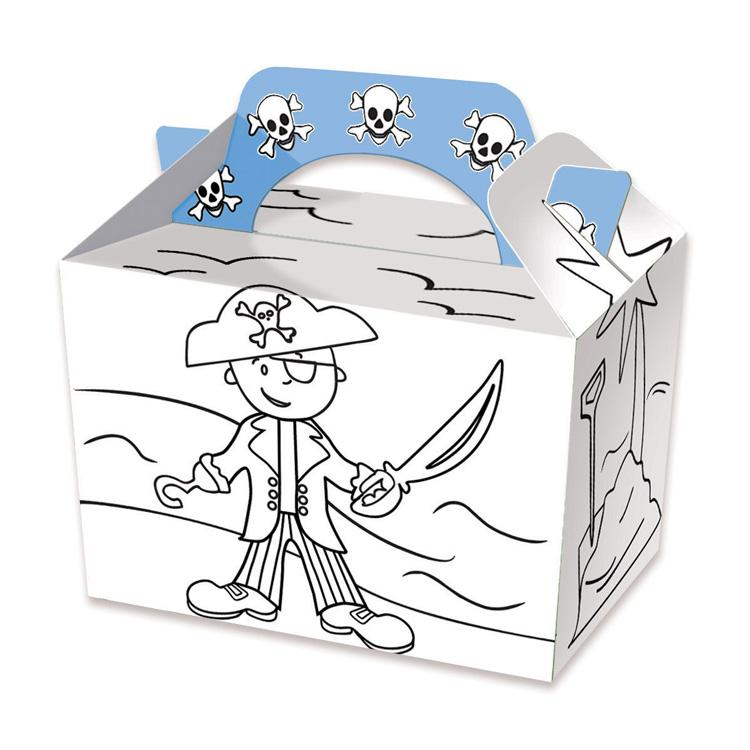 Pirate Colour In Party Boxes (x4)