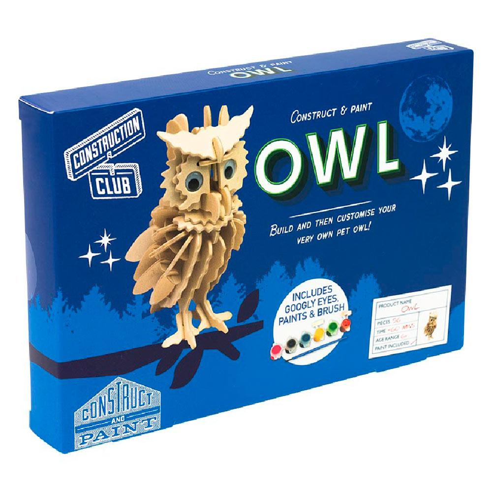 Owl Construction & Paint Set