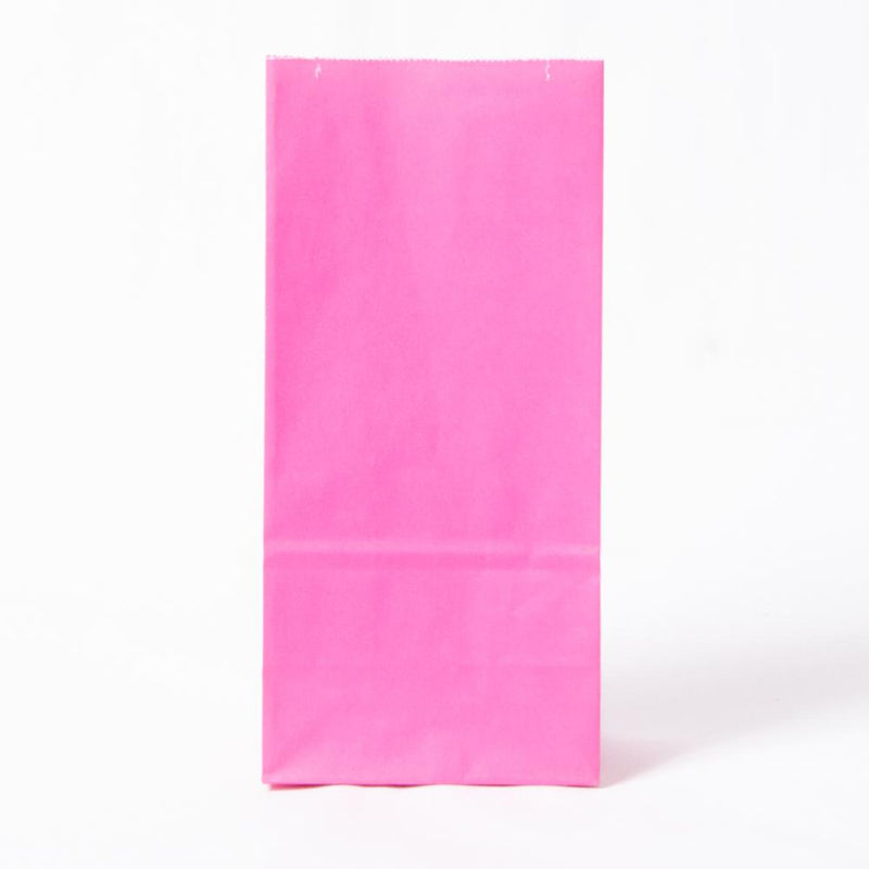 Paper Party Bags Bright Pink (x10)
