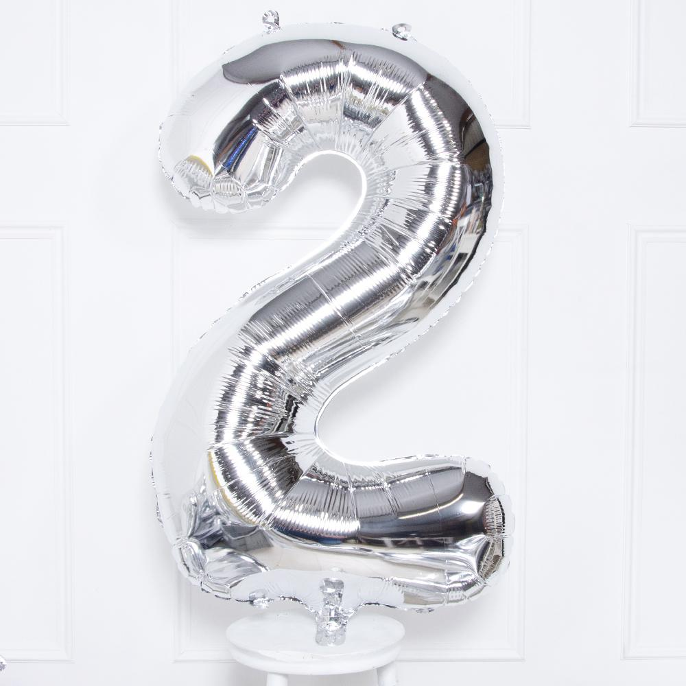 Click to view product details and reviews for Supershape Silver 34 Helium Balloon Number 2.