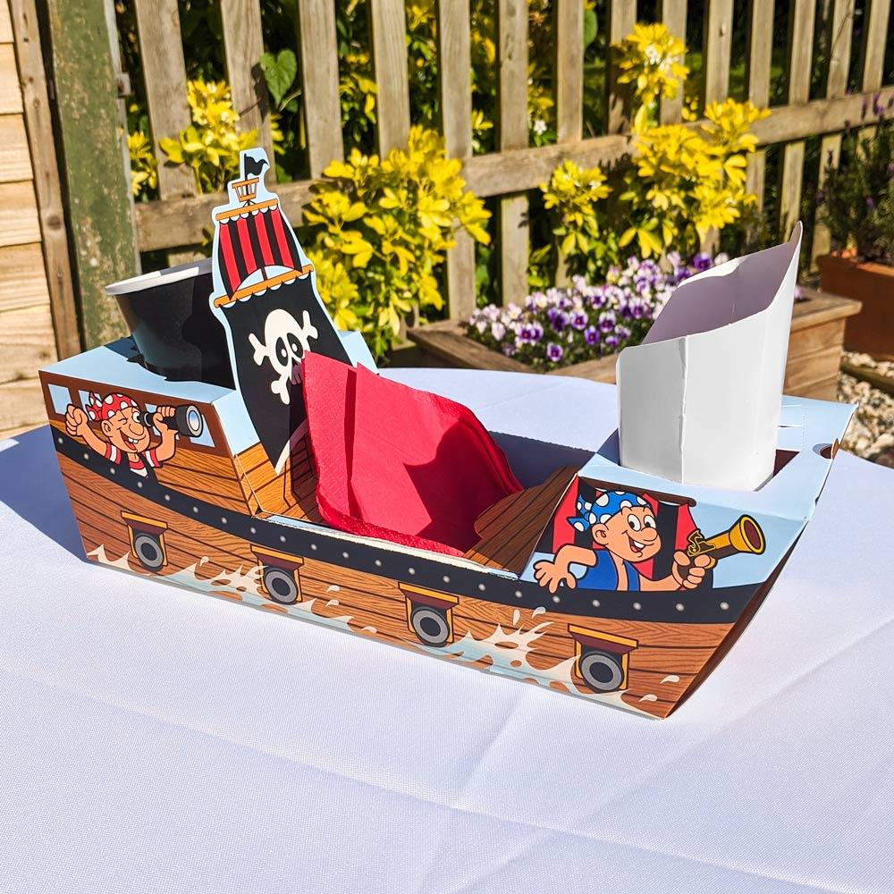 Pirate Ship Party Food Trays (x8)