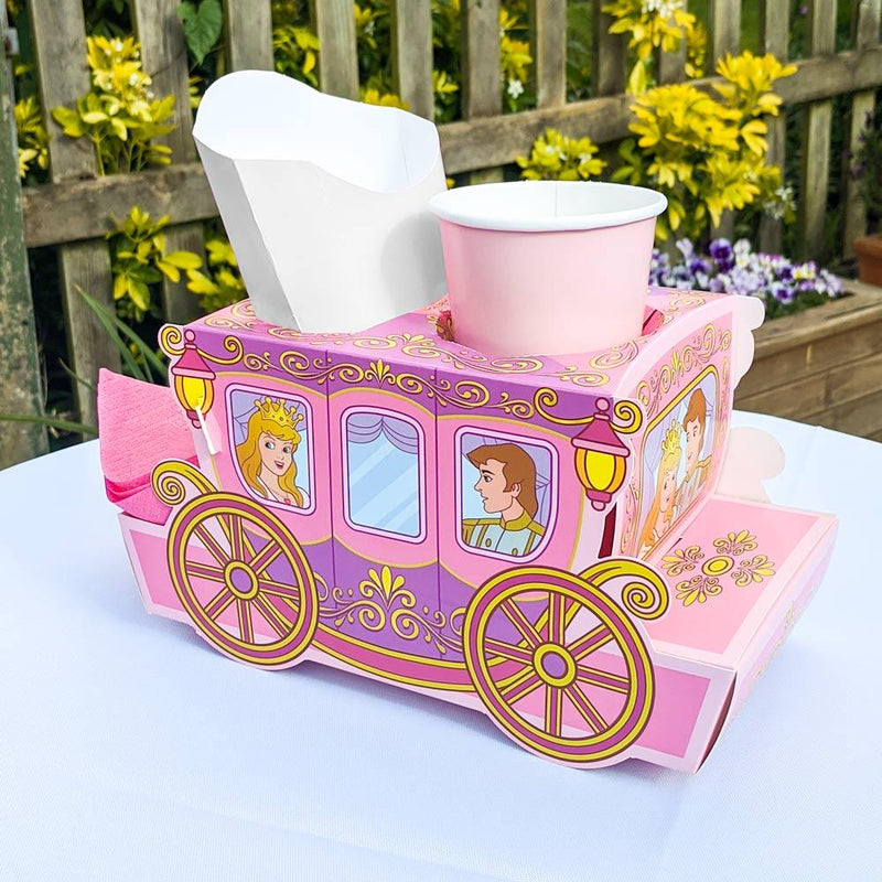 Princess Carriage Party Food Trays (x8)