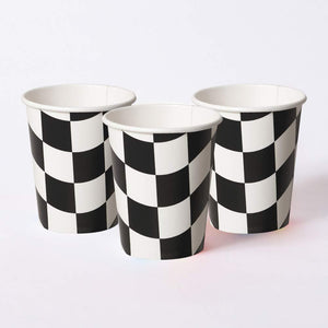 Racing Stripes Paper Cups (x8)