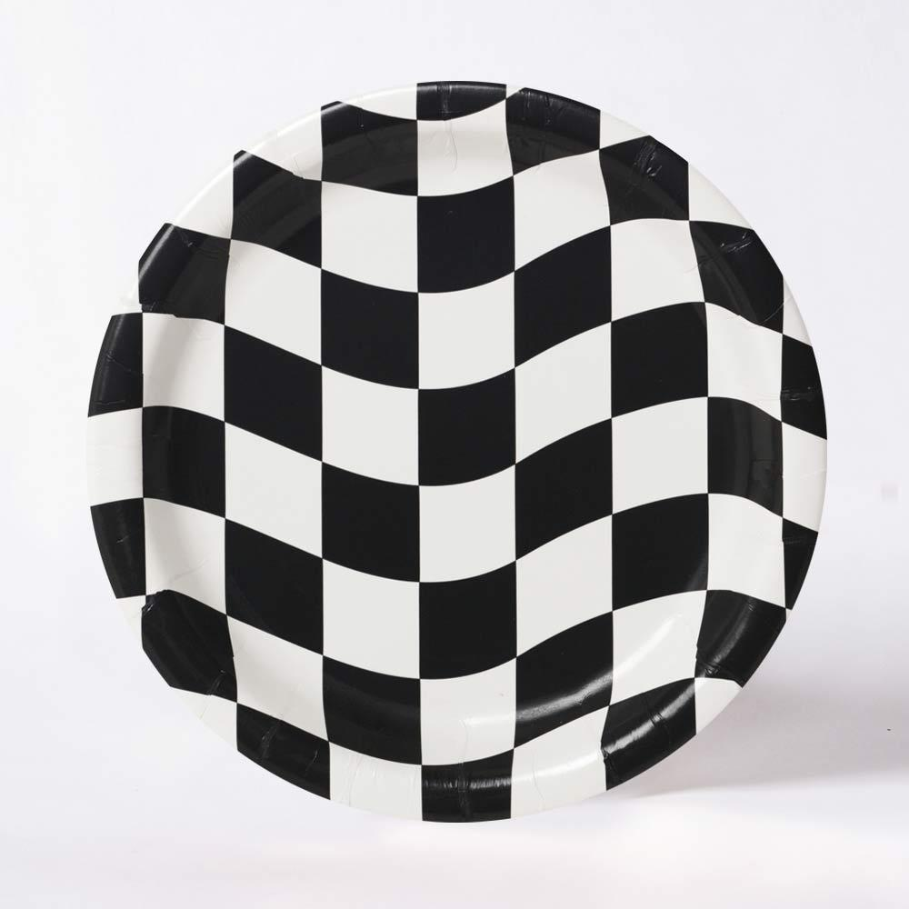 Racing Stripes Paper Plates (x8)