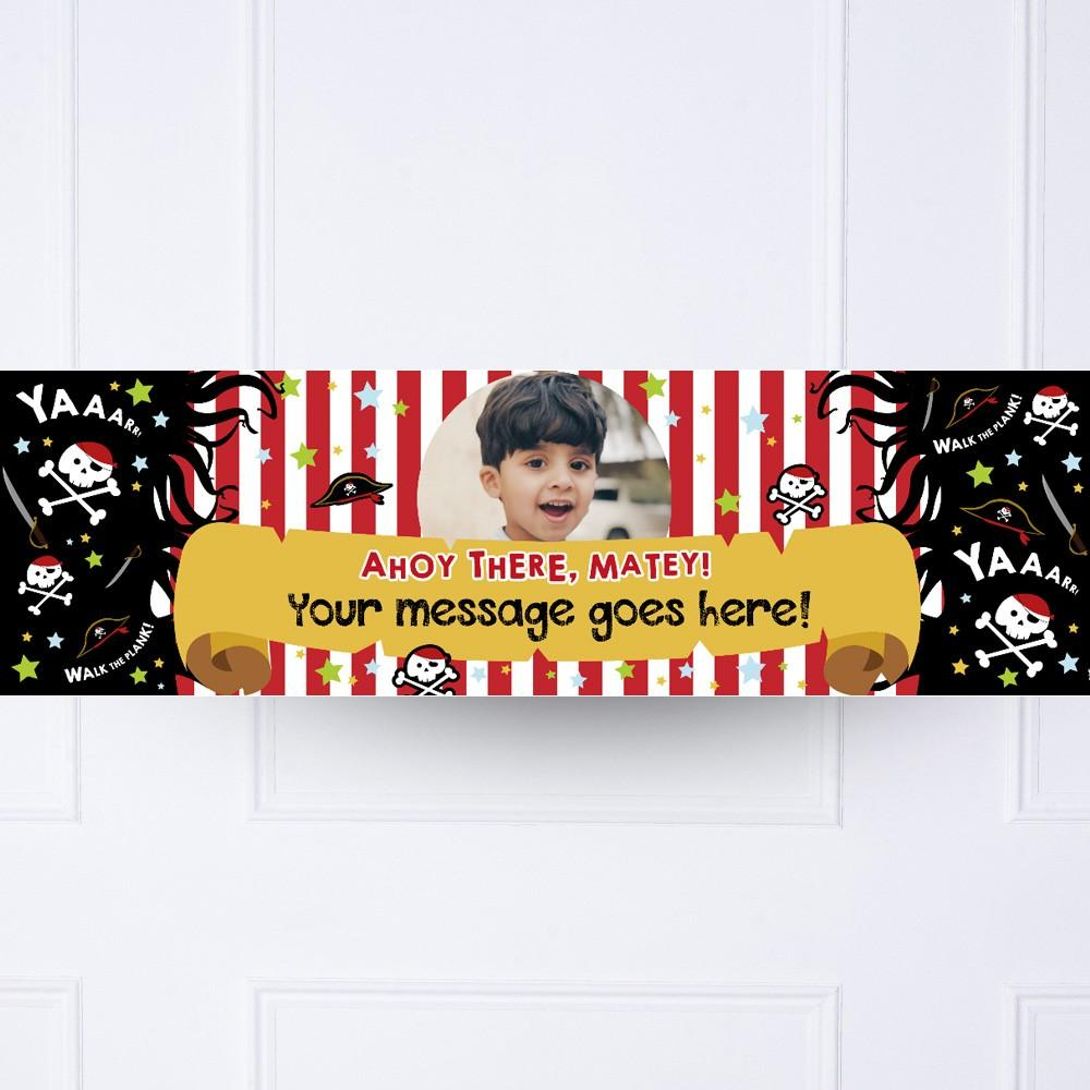 Ahoy Pirate Personalised Party Banner