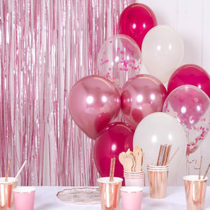 Confetti Balloon Bouquet - Berry Blush