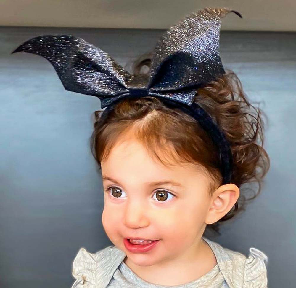 Glitter Bat Wings Hairband (Child Size)