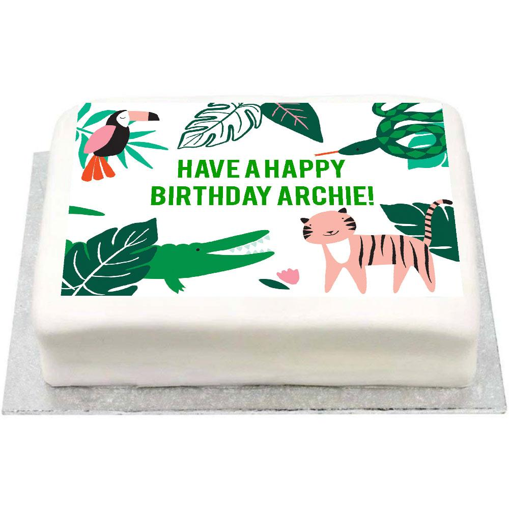 Personalised Photo Cake - Go Wild
