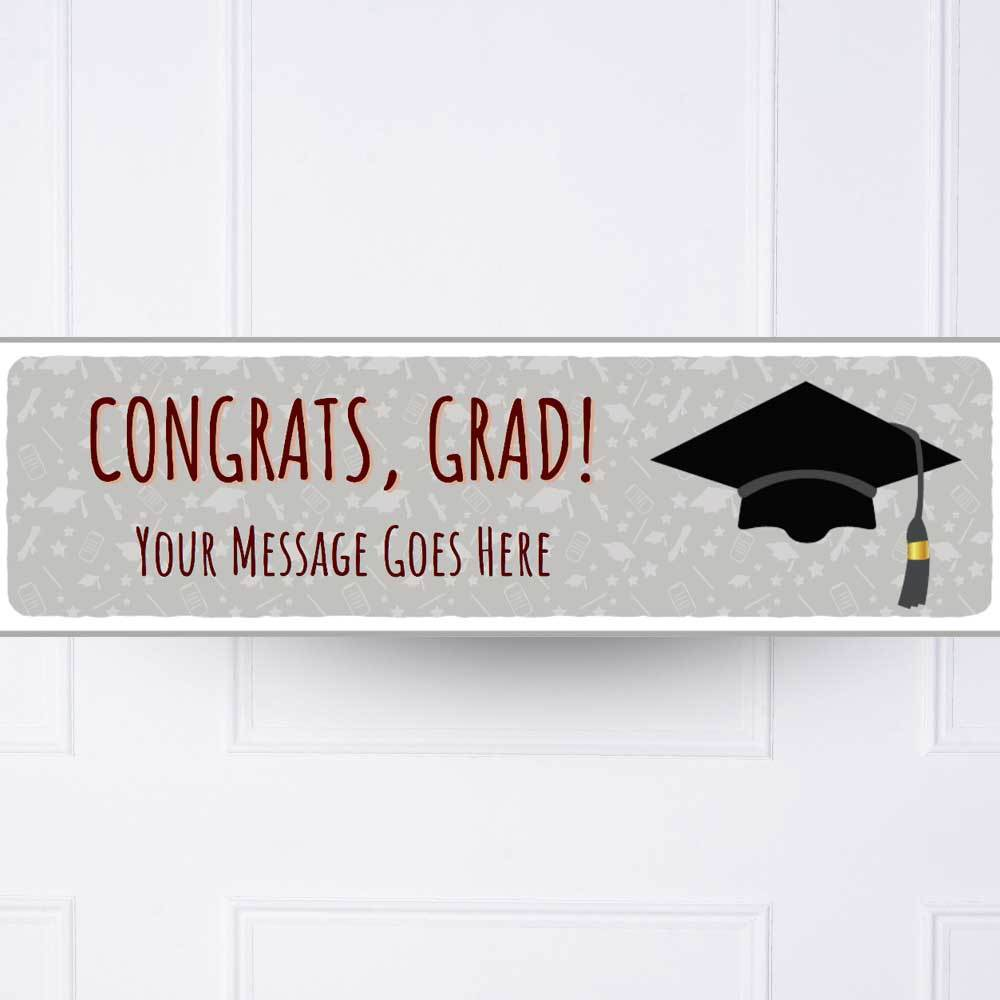 Graduation Cap Personalised Party Banner