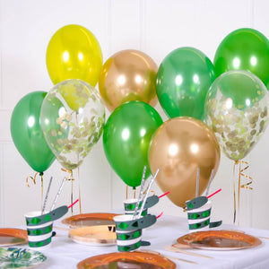 Confetti Balloon Bouquet - Green & Gold