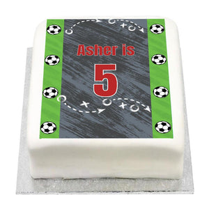 Personalised Photo Cake - Kicker Party
