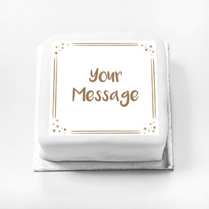 Personalised Message Gift Cake – Rose Gold Dots