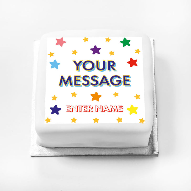 Personalised Message Gift Cake – Bright Stars