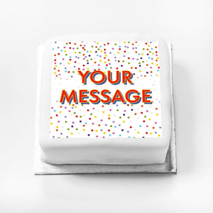 Personalised Message Gift Cake – Bright Dots