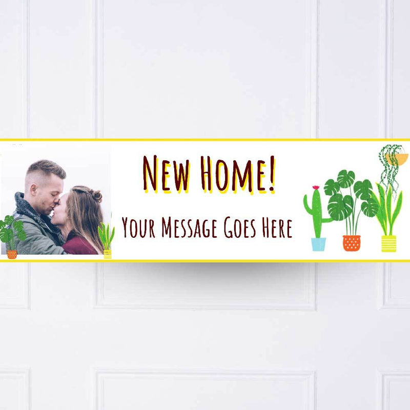 New Home Personalised Party Banner