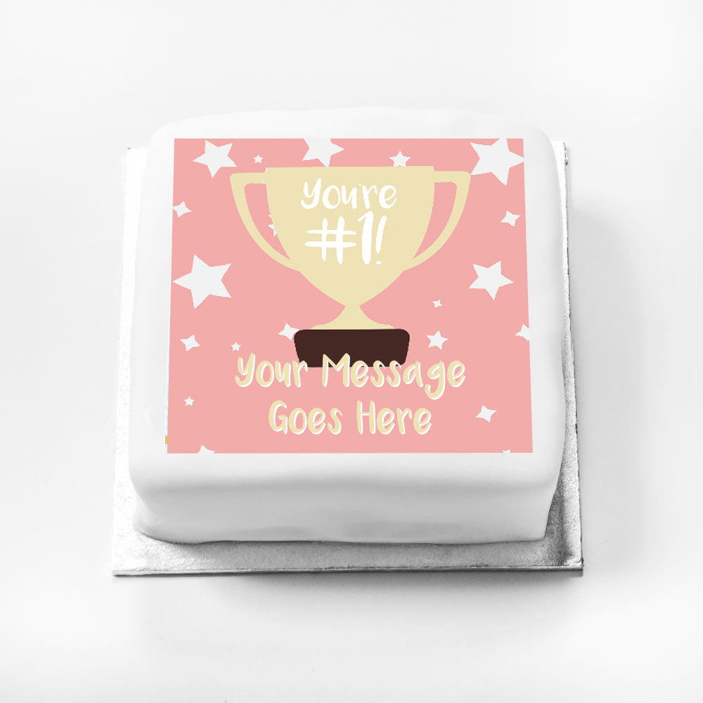 Personalised Message Gift Cake – You're Number 1 Pink