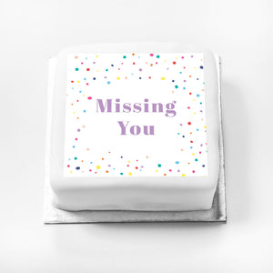 Personalised Message Gift Cake – Pastel Dots