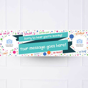 Sorry You Are Leaving Personalised Party Banner