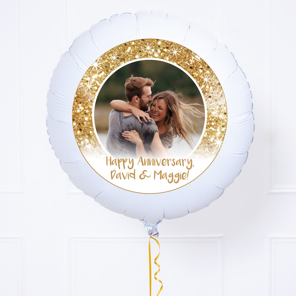 Personalised Photo Balloon – Gold Lustre
