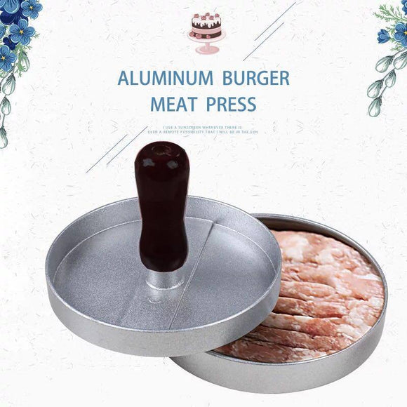 1 Set Round Shape Hamburger Press Aluminum Alloy 12 cm Hamburger Meat Beef Grill Burger Press Patty Maker Mold kitchen tools