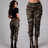 Camo Trousers 2020 1pc Autumn Outdoor Camping Women's Camo Trousers Casual Hip-hop Pants 2020 Military Women Pants 2020 Camouflage Pants Army Combat S-2XL Plus size pants hot