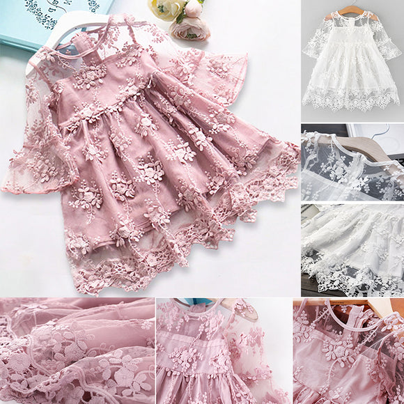 Summer Girl Clothes Kids Dresses 2020 Girls Lace Flower Dress Baby Girl Party Wedding Dress 2020 Children Girl Princess Dress