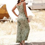Summer Print Women Dress 2020 Design Long Boho Dress Lady Sleeveless Beach Summer Sundress 2020 Maxi Dress Female Sexy Clothing #30   Swansstyle
