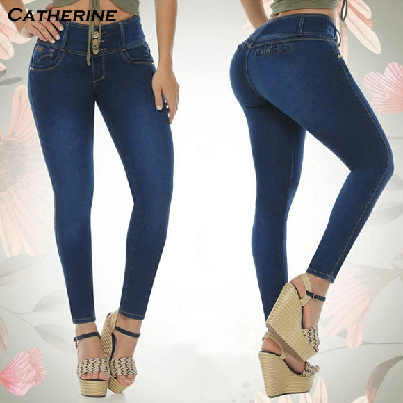 High Waist Jean Pant 2020 Plus Size Jeans Women Denim Pants Elastics Vintage Blue Jeans 2020 Washed Skinny Jeans 2020