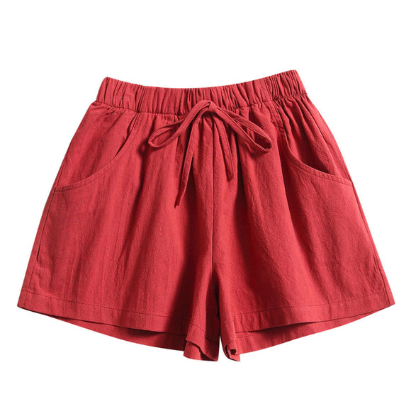 Summer Loose Shorts 2020 Drawstring Shorts Comfy Solid Casual Elastic Waist Pocket Shorts 2020