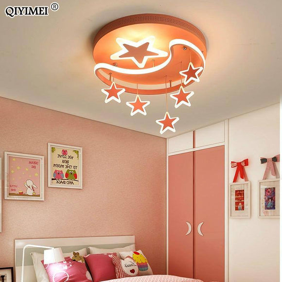 Led Chandelier Light 2020 Kids Bed Study Room Iron Base Silicon Dimmable Remote Control Pink White Lighting Lamp Lampadario Best Seller! Chandelier Light Fixture