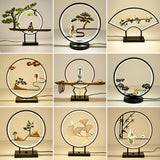 Best Table Lamps 2020 Aluminum ring Zen ornaments Creative table lamp 2020 Living room table lamps home fortune Tea ceremony decorative table lamp