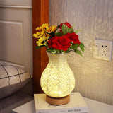 LED Table Lamps 2020 USB Table Lamp Wood Shade 5W decoration Night Table Light 2020 Vase Jars Flower Holder Dining Room Living Room Warm Led