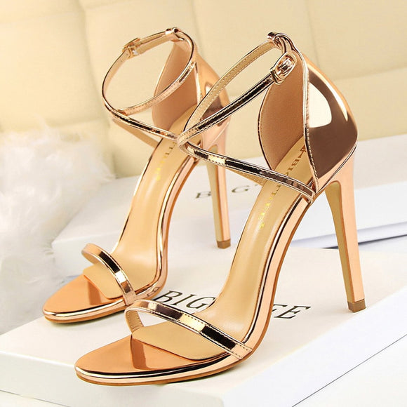 Extreme High Heels Stiletto Shoes 2020 Sexy Women Pumps Buckle Women Shoes 2020 Gold Silve Women Heels Women Sandals Female