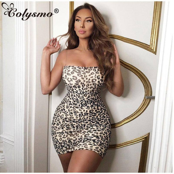 2 Layers Summer Dress Women 2020 Sexy Leopard Dress Sleeveless Printed Bodycon Dress 2020 Woman Party Night Club Mesh Dresses
